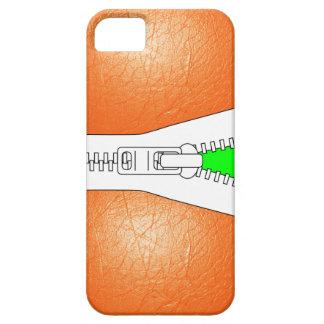 Orange Leather Jacket Look Iphone Case