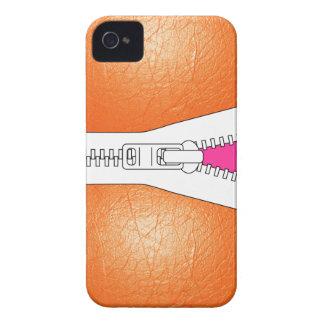 Orange Leather Jacket Look Iphone Case iPhone 4 Case