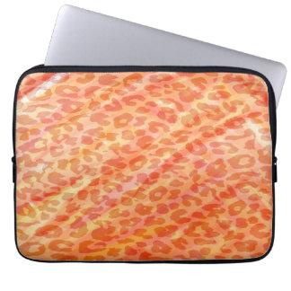 Orange Leopard Print Skin Laptop Sleeves