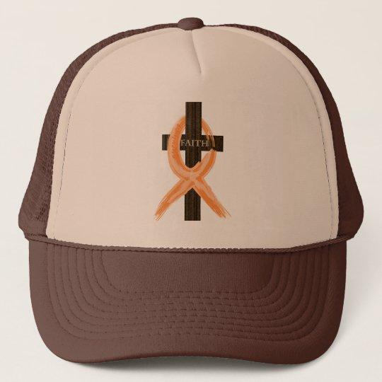 Orange Leukaemia Survivor's Cross of Faith Trucker Hat