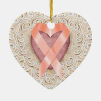 Orange Leukemia Ribbon From the Heart - SR Christmas Ornament