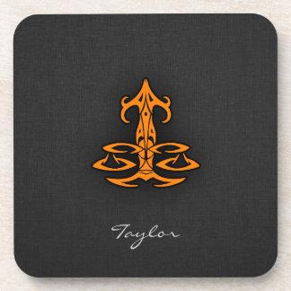Orange Libra Beverage Coasters