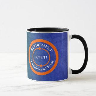 Orange Life Reset Icon Retirement Date Mug