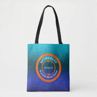 Orange Life Reset Icon Retirement Date Tote Bag
