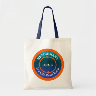 Orange Life Reset Icon Retirement Date Tote Bag