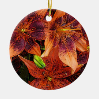 Orange Lilies Christmas Ornament