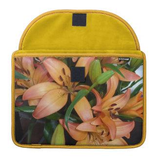 Orange Lilies Sleeve For MacBooks