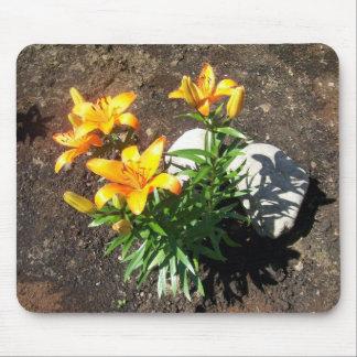 Orange Lilies Mousepad