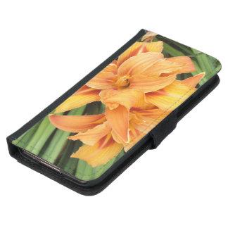 Orange Lilies on Green Leaves Samsung Galaxy S5 Wallet Case