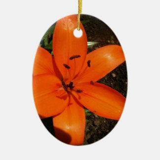 Orange Lilies Ornament