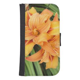 Orange Lilies Samsung S4 Wallet Case