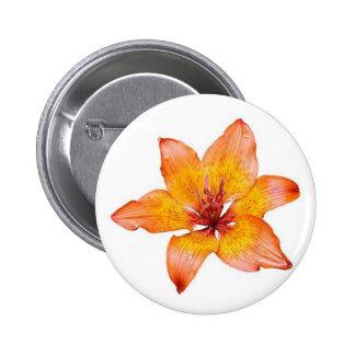Orange Lilly Button