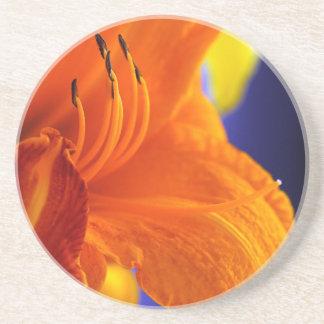 Orange Lily Bouquet Beverage Coaster