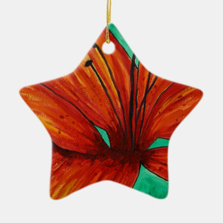 Orange Lily Christmas Ornament