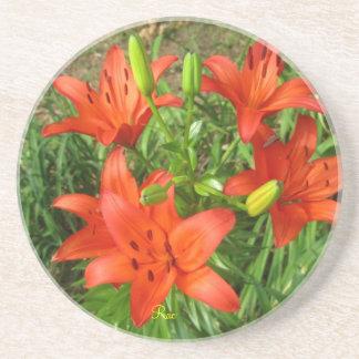 Orange Lily Beverage Coaster