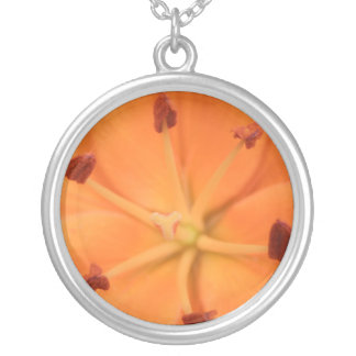 Orange Lily Floral Necklace