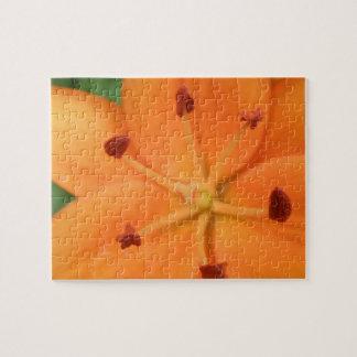 Orange Lily Floral Puzzle