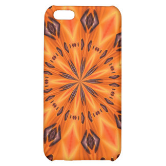 Orange Lily Medallion Case For iPhone 5C