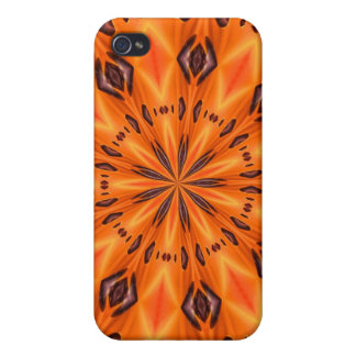 Orange Lily Medallion iPhone 4 Covers
