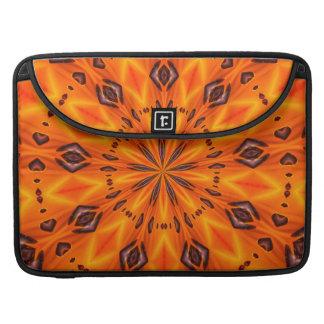 Orange Lily Medallion MacBook Pro Sleeve