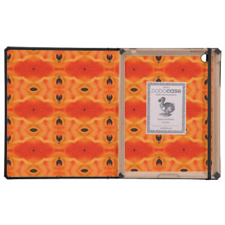 Orange Lily Pattern Cases For iPad