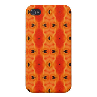 Orange Lily Pattern iPhone 4/4S Case
