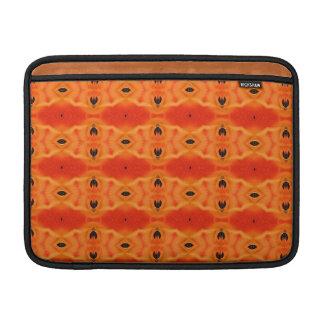 Orange Lily Pattern MacBook Air Sleeve