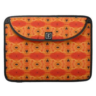 Orange Lily Pattern MacBook Pro Sleeve