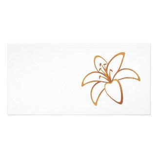 Orange Lily Personalized Photo Card