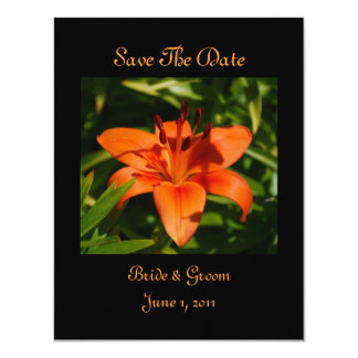Orange Lily Save The Date Cards