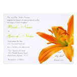 Orange lily Wedding Personalized Invites