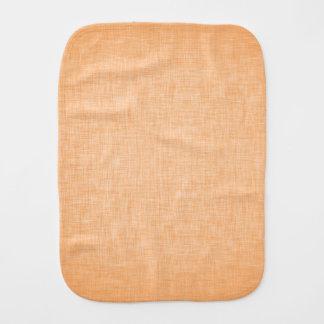 Orange Linen Burp Cloths