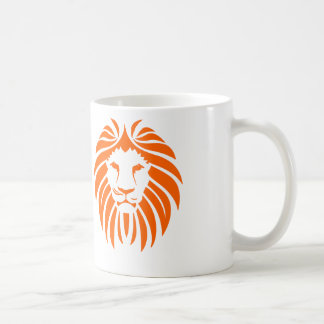 Orange Lion Mane - White Coffee Mug