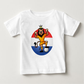 Orange lion soccer hero baby T-Shirt