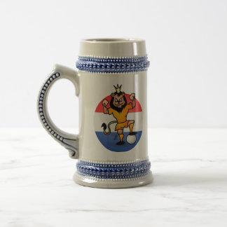 Orange lion soccer hero coffee mug