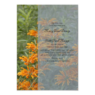 Orange Lions tail  Wedding Invitation
