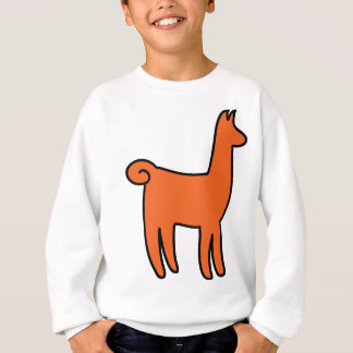 Orange Llama Apparel Sweatshirt