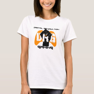 Orange Logo T-Shirt: Women's White T-Shirt