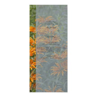 Orange Loins tail  Wedding Invitation