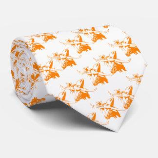 Orange Longhorn Steer with Cowboy Hat Tie