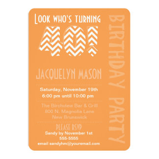 Orange Look Who's Turning 40 Birthday Invitation
