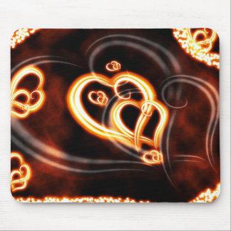 Orange Love Mouse Pad