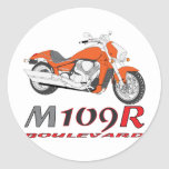 Orange M109R Classic Round Sticker