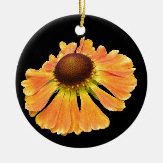 Orange Macro Flower Ornament