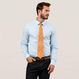 Orange Mandala Tie