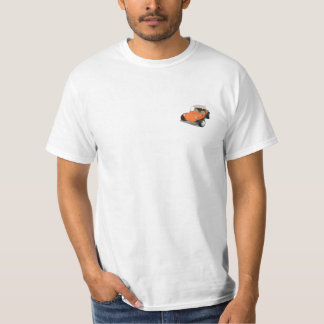 Orange Manx Only on white back and front T-Shirt