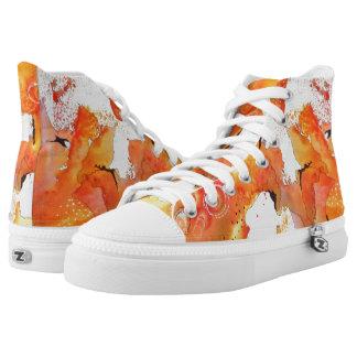 Orange Map Shoes
