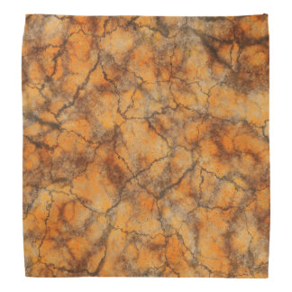 Orange marble background bandana