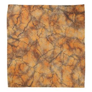 Orange marble background head kerchief
