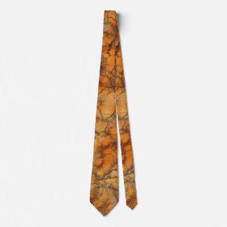 Orange marble background tie